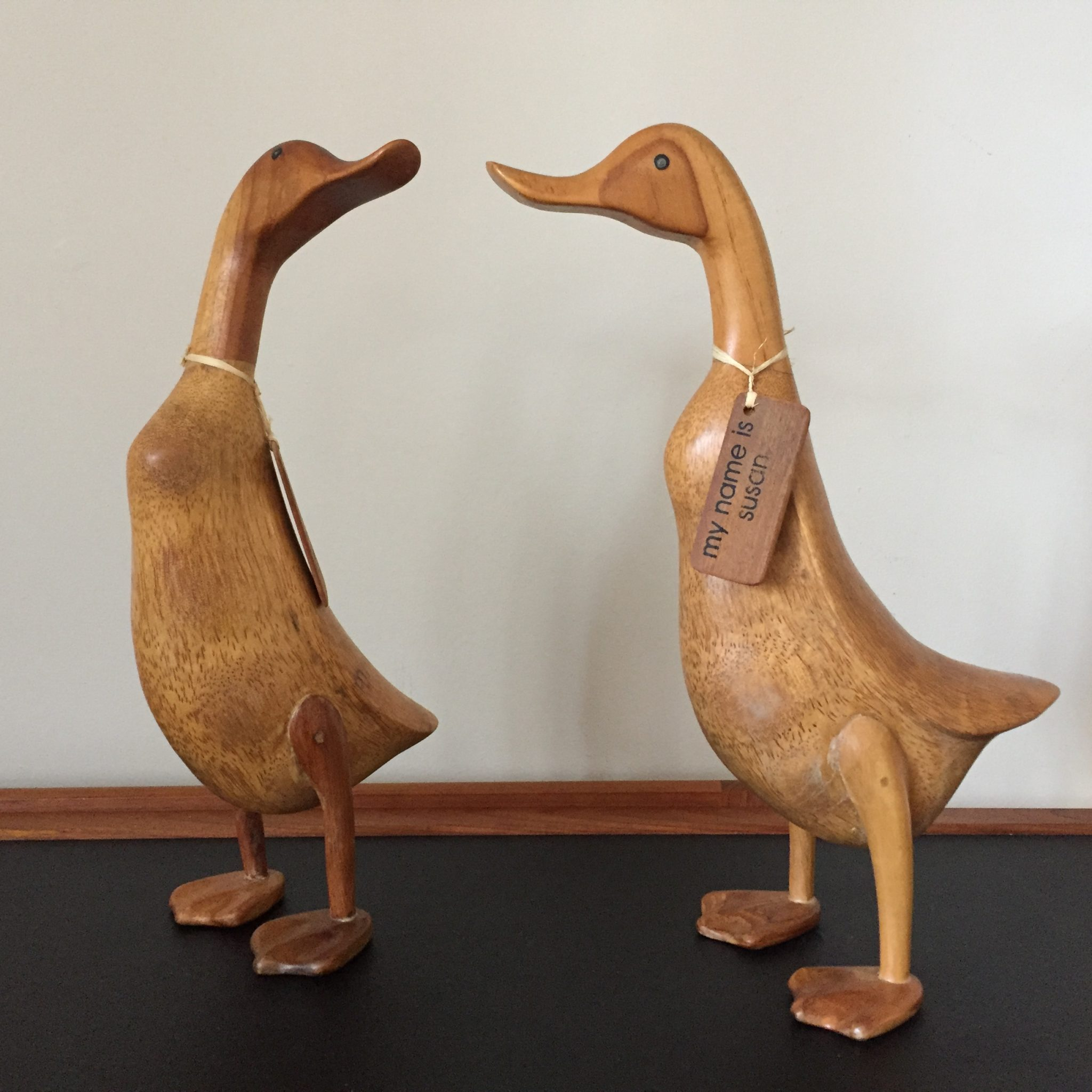 Mid Century Wooden Ducks