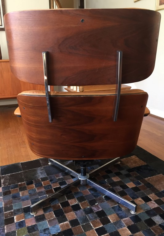 mid century modern bent plywood lounge chair ottoman selig