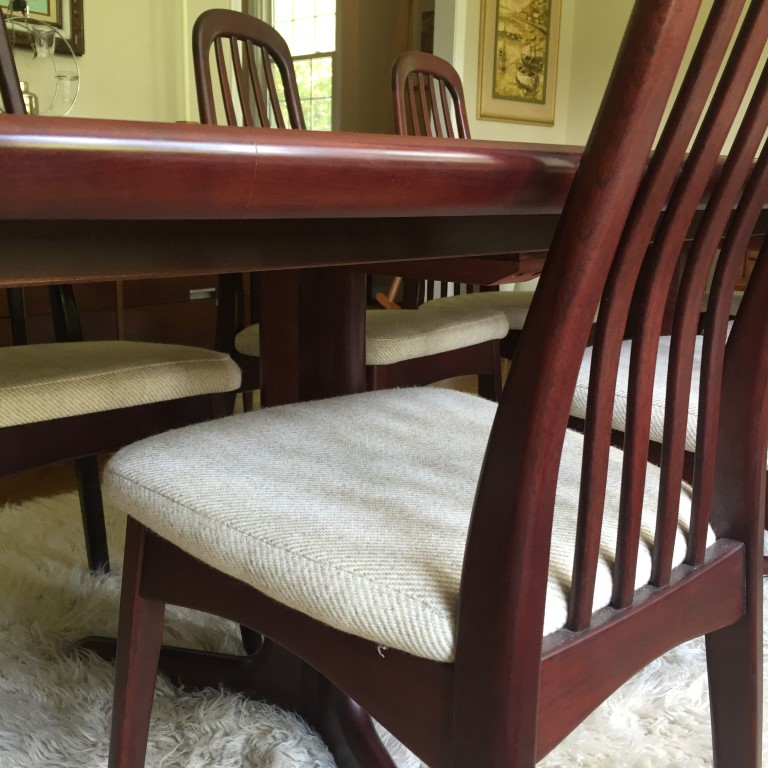 danish modern rosewood dining set