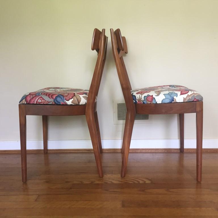 mid century modern dining chairs drexel declaration