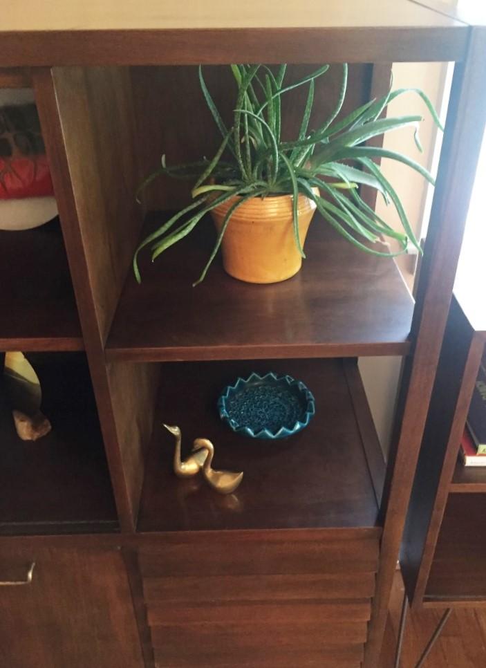 mid century modern storage display cabinet merton gershun dania collection american of martinsville
