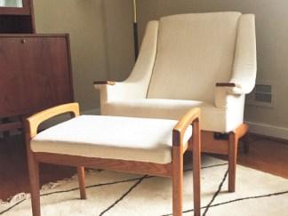 danish mid century modern recliner ottoman folke ohlsson