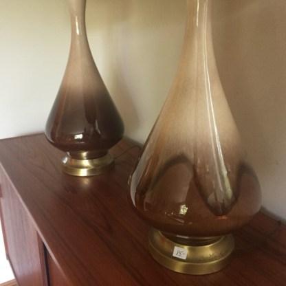 mid century modern ceramic table lamps
