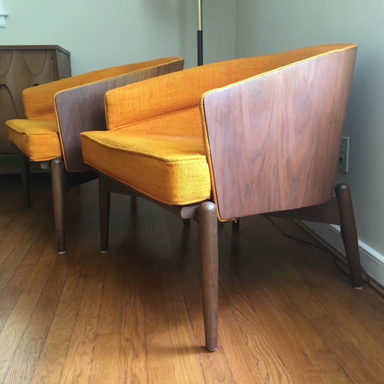 ... Mid Century Modern Barrel Back Lounge Chairs Kodawood Miami