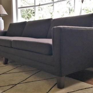 danish modern mid century modern gray upholstered Scandinavian sofa