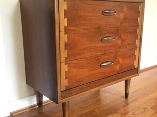 Mid century modern lane acclaim album storage cabinet record cabinet