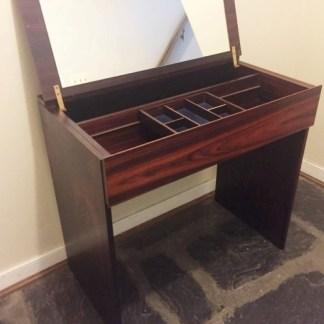 mid century modern rosewood vanity
