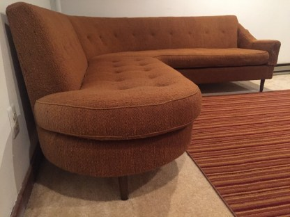 mid century modern sectional sofa couch