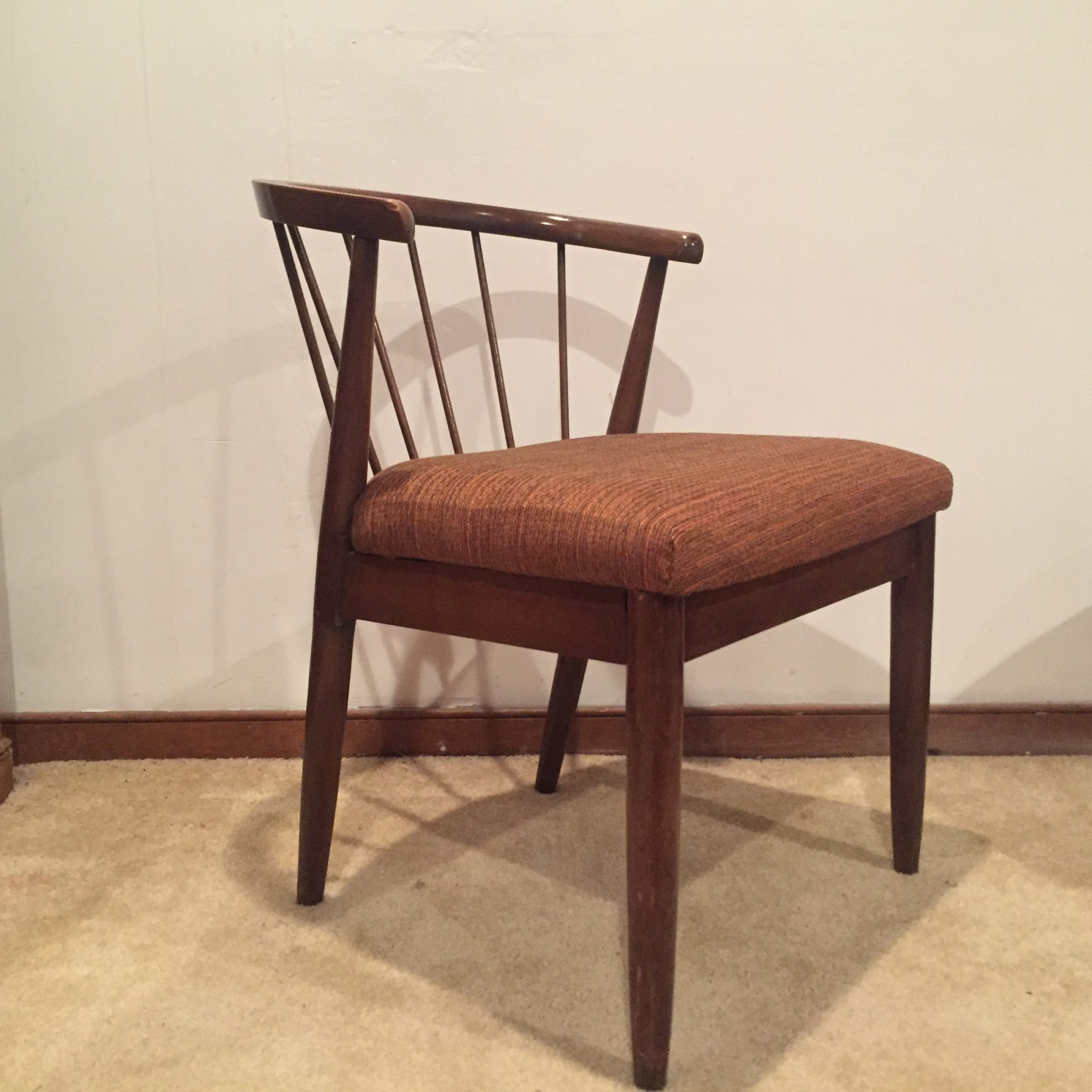 Fine American Of Martinsville Walnut Accent Chair Ncnpc Chair Design For Home Ncnpcorg