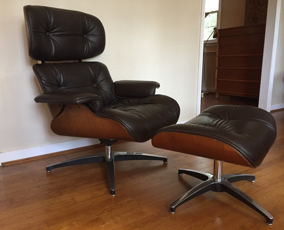 5151ea592d1a Mid Century Modern Bentwood Lounge Chair and Ottoman by Plycraft ...