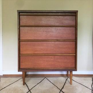 vintage mid century mahogany high dresser bassett