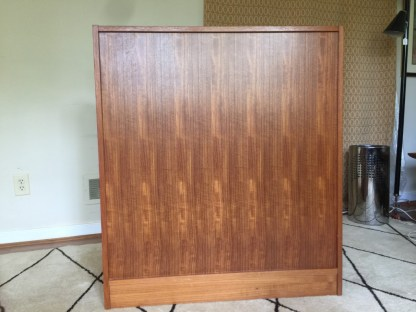 vintage teak rolltop desk