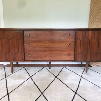 vintage mid century walnut nine drawer dresser