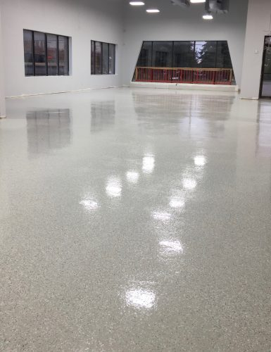 Epoxy flooring, commercial