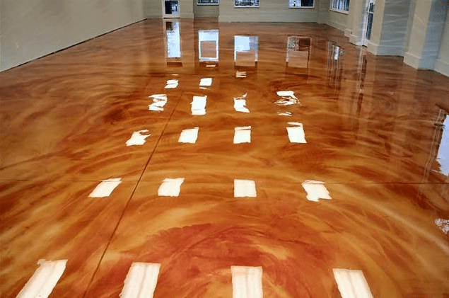 Metallic epoxy flooring