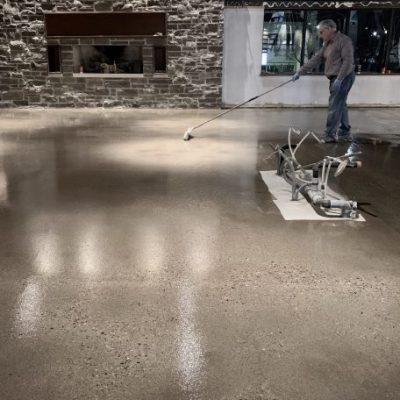 Epoxy flooring with exposed aggregate