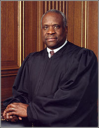 Official 2004 photo of Justice Clarence Thomas