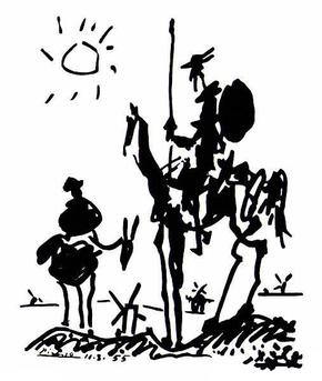 Don Quixote and Sancho Panza by the Spanish artist Pablo Picasso