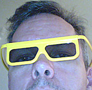 Self-portrait with 3-D glasses