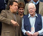 Jimmy Carter and Hugo Chavez