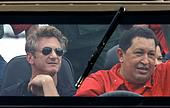 Hugo Chavez and Sean Penn