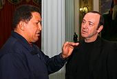 Hugo Chavez and Kevin Spacey