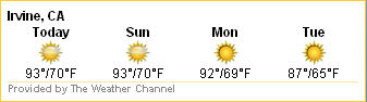 Irvine weather forecast