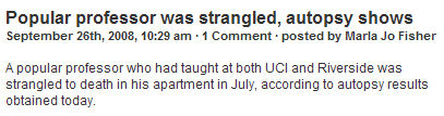 Popular professor was strangled