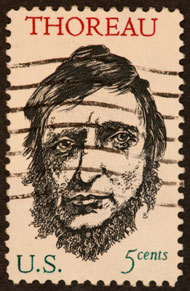 Thoreau postage stamp