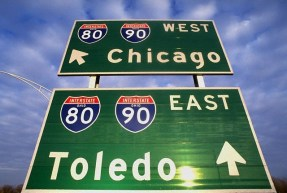West to Chicago, East to Toledo