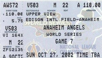 Game 7 World Series ticket