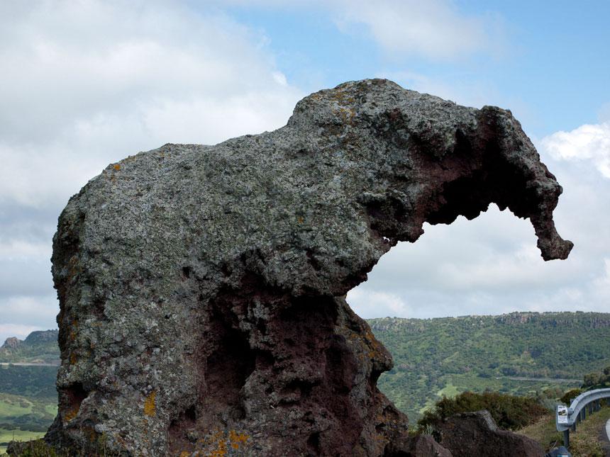 Roccia dell'elefante in Sardegna