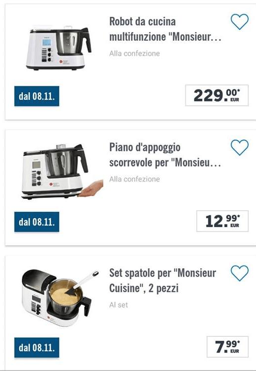 Monsieur Cuisine Plus 2018 L8 Novembre Tutti Alla Lidl Eppure