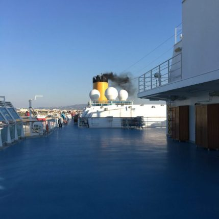 Top level of the ship