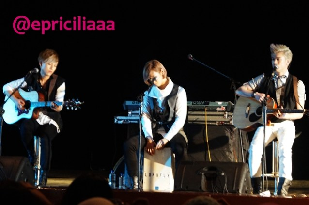 F.Y.I on stage with Lunafly, Jakarta, March 28th 2013 - Lunafly - Clear Day Cloudy Day.