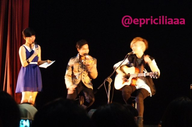 F.Y.I on stage with Lunafly, Jakarta, March 28th 2013 - With Rio.
