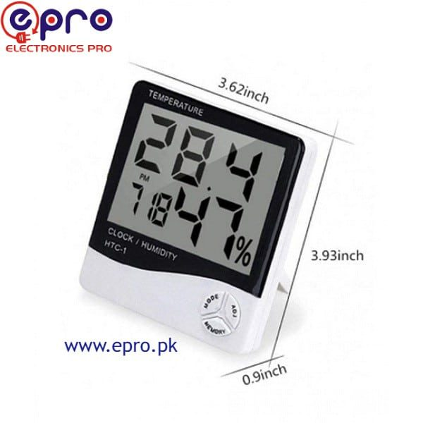 Digital Temperature & Humidity Meter HTC-1 in Pakistan