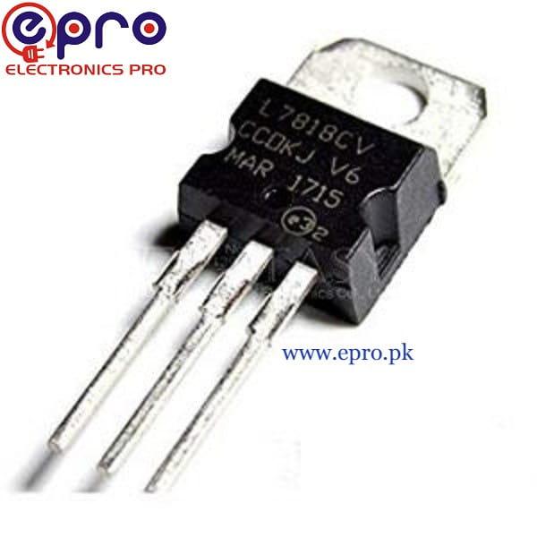 L7818CV TO220 Voltage-Regulator IC in Pakistan