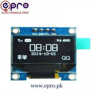 Arduino 0.96 inch IIC OLED Display 128 x 64 I2C SSD1306 LCD Screen in Pakistan