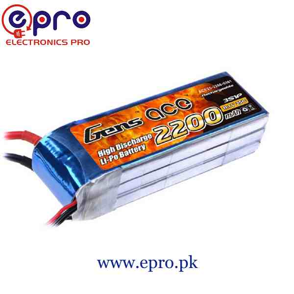 11.1V 2200mAh 2.2Ah Lipo Battery in Pakistan
