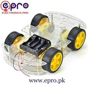 4 Wheel Robot Car Chassis Kit in Pakistan