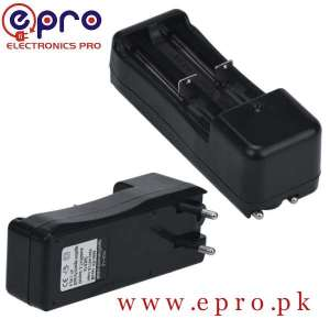 Universal Dual Battery Charger for 18650 16340 26650 Rechargeable 3.7V Li-ion in Pakistan