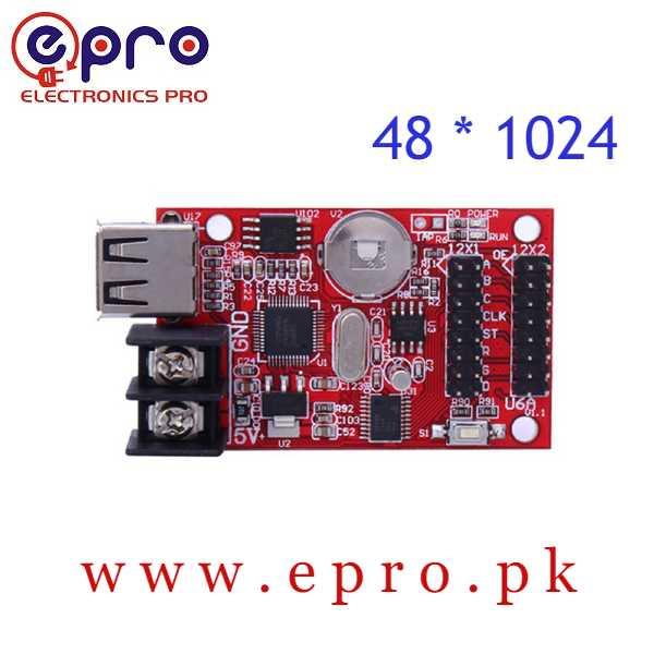 USB Port Single Double Color LED Display Controller Card 48 * 1024 Pixels HD U6A in Pakistan