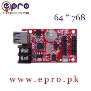 USB Port Single Double Color LED Display Controller Card 64 * 768 Pixels HD U6A in Pakistan