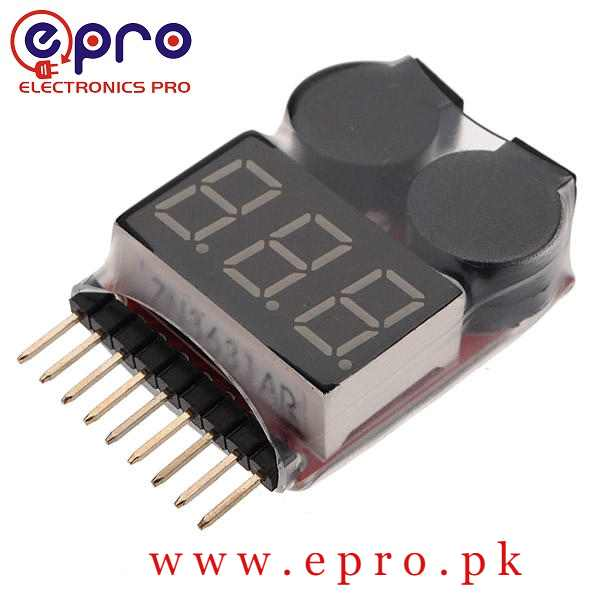 1-8S LiPo Battery Voltage Tester Monitor in Pakistan