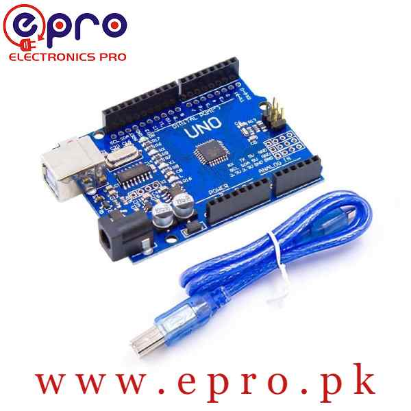 Arduino R3 UNO Atmega328P SMD with Cable in Pakistan