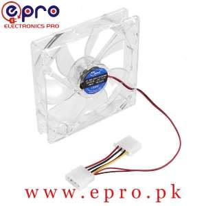 DC Brushless Cooling Fan 3 Pin Fan Transparent in Pakistan