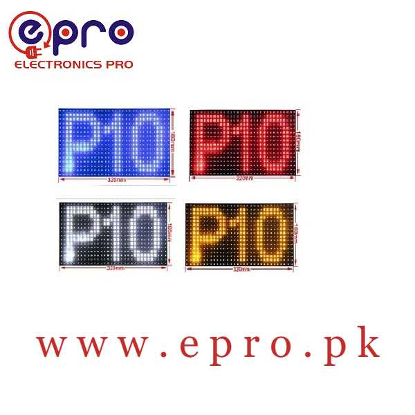 P10 Blue SMD LED Display Panel Semi Outdoor LED Module in Pakistan