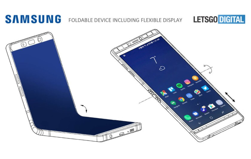 Upogljiv telefon Samsung razkrit na sejmu CES 2018