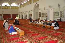 Children reading Quran in Allah o Akbar Mosque Phase I DHA Lahore